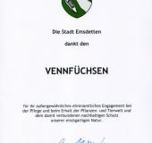 Ehrenamt-Auszeichnung 14.01.2018 Vennfüchse
