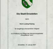 Ehrenamt Klasing 2007